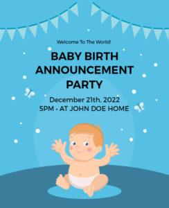 unique birth announcement